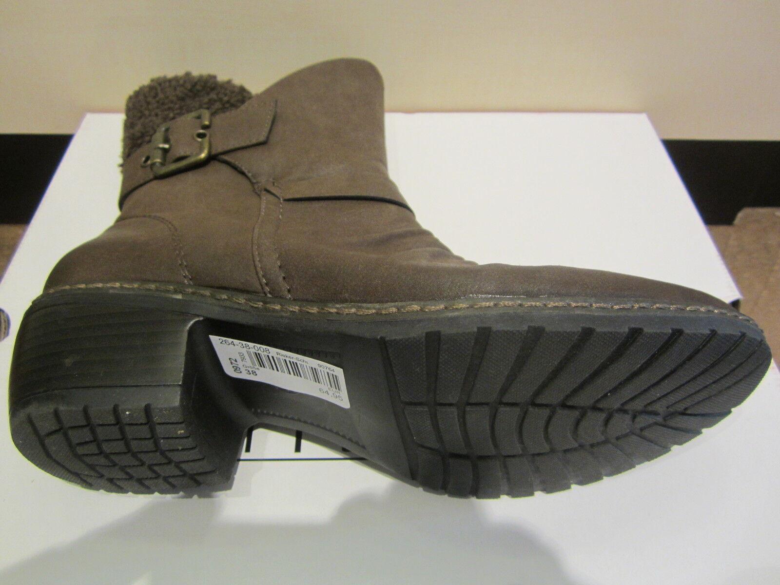 Rieker Stiefel, gefüttert braun, kein Leder, warm gefüttert Stiefel, 90764, NEU 02253f