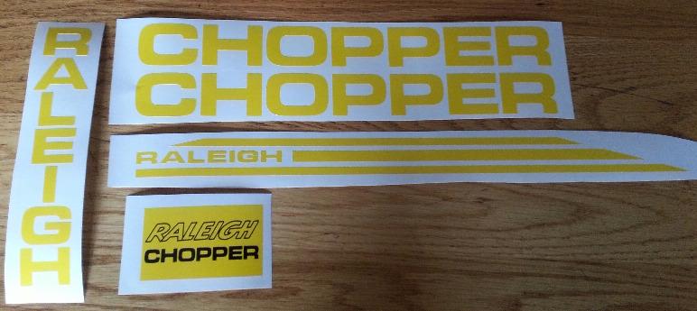Raleigh MK1 & MK2 chopper decals stickers graphics kits
