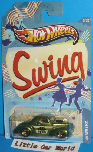 2013 HOT WHEELS Swing Music /'41 Willys HW JUKEBOX Series 5//32 1941