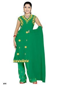 En Herbe Salwar Kameez Set Carnaval Sari Boho Inde Bollywood Vert En 4 Tailles-afficher Le Titre D'origine Apparence EsthéTique