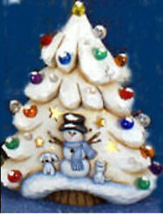 Details About Ceramic Bisque Ready To Paint Christmas Tree Lights Clip In Light Incl