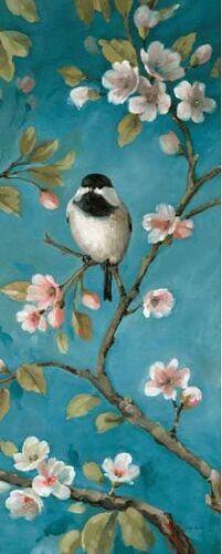 Fleurs IV Civière-image de L/'Écran Décoration Jardin Oiseaux Lisa Vérification