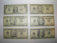 PLEASE READ INSIDE Fake Play Money Smaller Than Real Dollar Bills - NOT Postcard