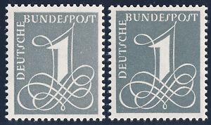 BUND-1958-1960-MiNr-285-X-und-285-Y-II-postfrisch-gepr-Schlegel-Mi-22