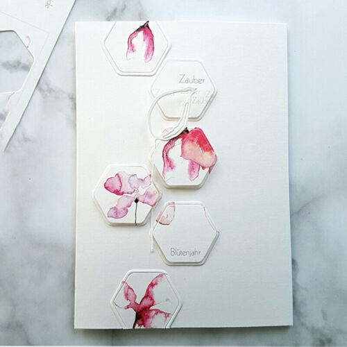 Geometrische Grenzmetallausschnittform DIY Einklebebuchpapier-Kartendekoration·