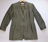 Women's JACQUES VERT 3/4 Sleeve Evening Wear Jacket UK 14 EUR 42 Bronzed Khaki