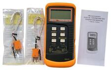 Dual channel K Type Digital Thermocouple Thermometer 6802 II, 2 x k type sensors