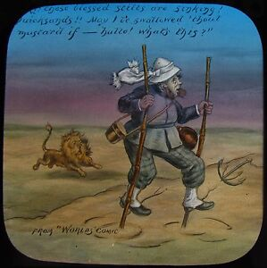 Glass Magic Lantern Slide RESOURCEFUL GLOBE TROTTER NO4 C1890 WORLDS COMIC - Cornwall, United Kingdom - Glass Magic Lantern Slide RESOURCEFUL GLOBE TROTTER NO4 C1890 WORLDS COMIC - Cornwall, United Kingdom
