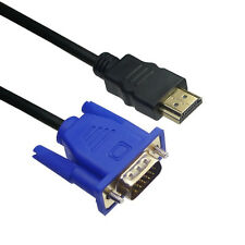 HDMI Male to HD VGA Male Adapter Cable Converter Lead For TV PC Output