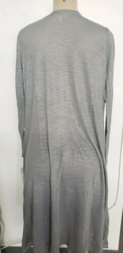 LuLaRoe gray Sarah Lightweight Stretchy Sweater Knit LLR RARE LONG  CARDIGAN NEW