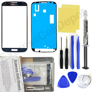 For-Samsung-Galaxy-S4-i9500-Black-Front-Glass-Lens-Screen-Replacement-Kit