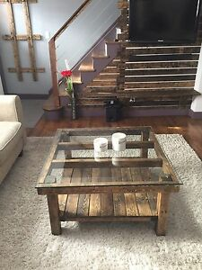 Rustic Coffee Table 36 X36 X19 With