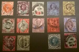Great-Britain-QV-SC-111-122-125-26-SG-197-211-213-14-1887-JUBILEE-SET-LOTJ