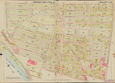 NEW JERSEY ATLAS MAP 1913 MOONACHIE HASBROUCK HEIGHTS WOODBURY BERGEN COUNTY