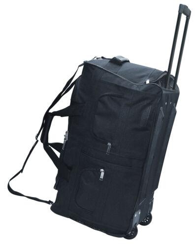 Ruoli trolley valigia valigia NERO MCA 60 L Borsa Borsa a Rotelle ZAINO TROLLEY