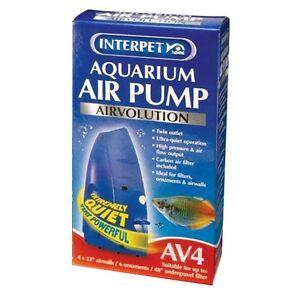 Interpet-Airvolution-AV-4-Aquarium-Fish-Tank-Air-Pump-AV4