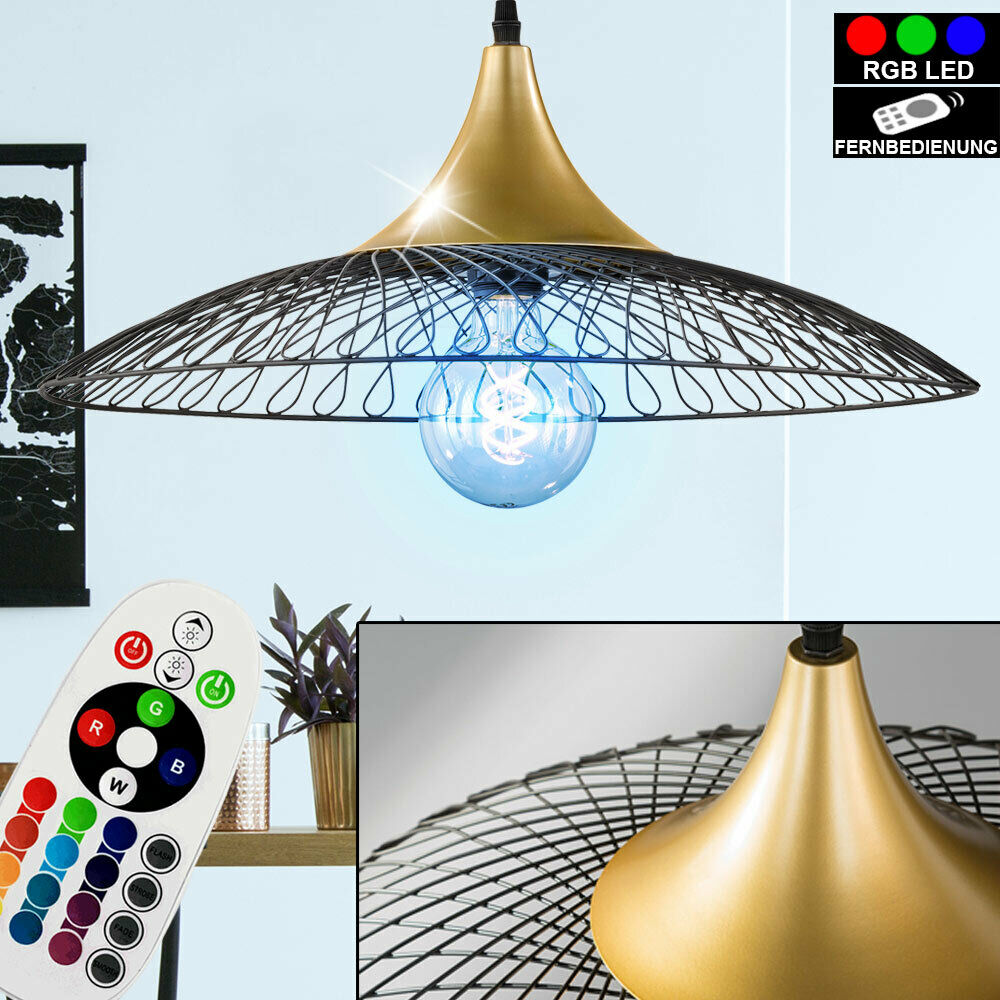 RETRO RGB LED Pendel Hänge Lampe Gitter Arbeits Zimmer Decken Leuchte DIMMBAR