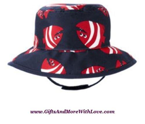 Gymboree NWT Marine Blue PELICAN CATCH FISH BUCKET DRESS HAT CAP 3 6 9 12 18 M