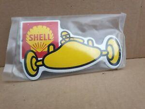 """SHELL"" motoring Stove Enamel Sign Really Neat  6""x 3.5""  pre holed  New. No65"