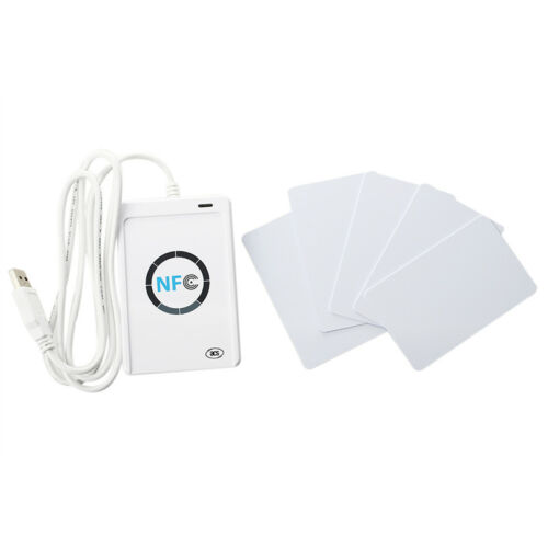 5X Card Reader and Writer, NFC ACR122U RFID Smart Reader and Writer Contactle MO