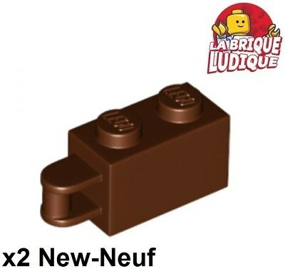 Lego Braun 34816 Neu 2x Lego Ziegel Geändert 1x2 Griff Griff Braun/rot
