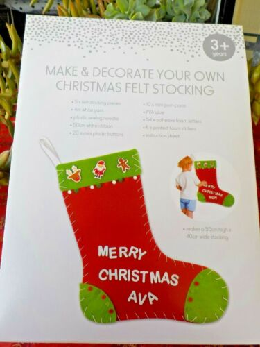 MAKE /& DECORATE YOUR OWN PERSONALIZED CHRISTMAS FELT STOCKING