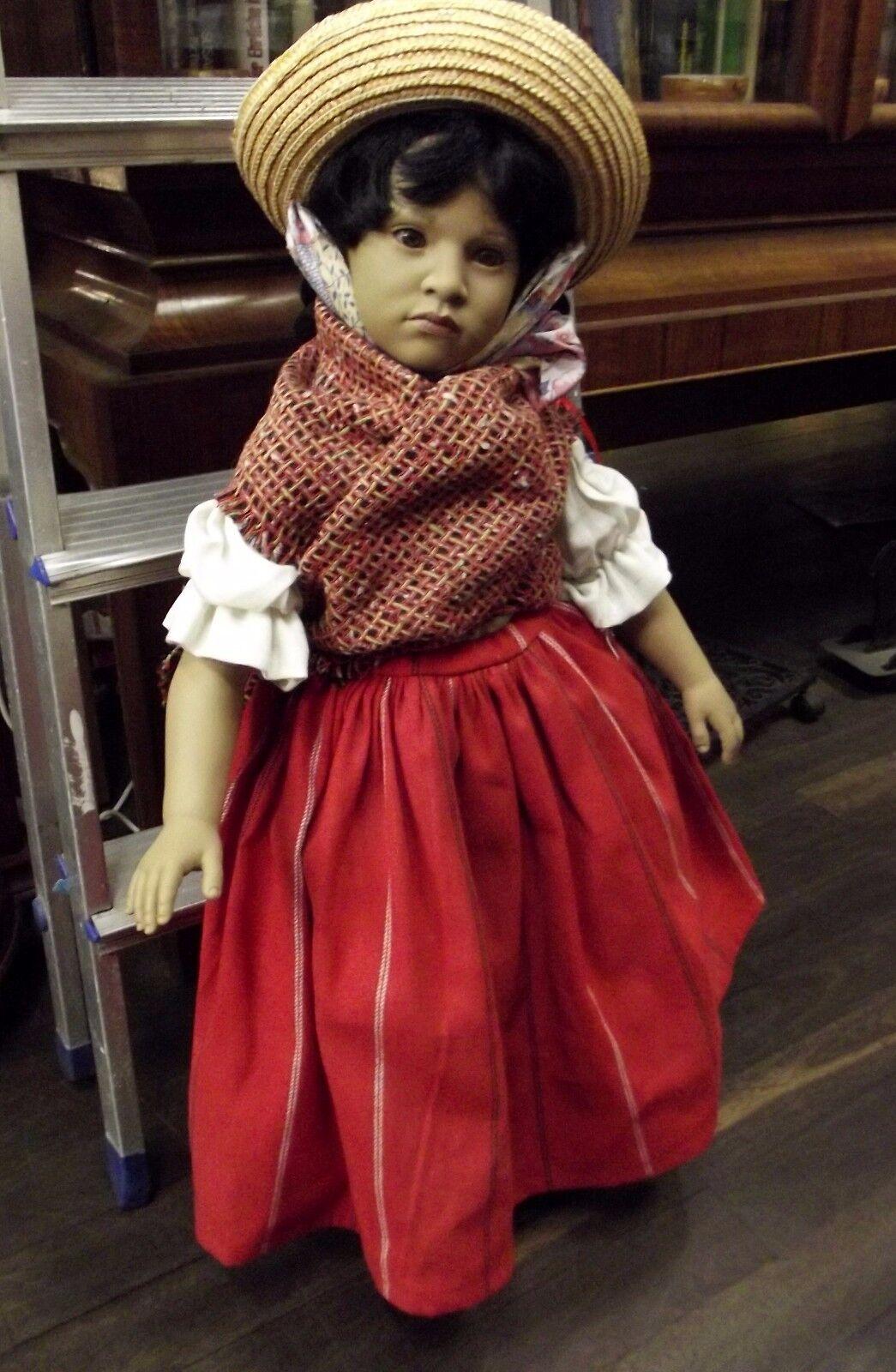 Puppe, groß, Designerpuppe, Künstlerpuppe, hohe Qualität, Mexikanerin, Nr. 1