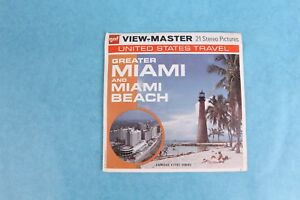 VINTAGE VIEW-MASTER 3D REEL PACKET A963 GREATER MIAMI AND BEACH COMPLETE