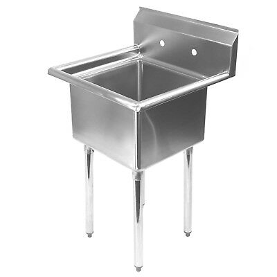Stainless Steel Utility Sink for Commercial Kitchen - 23.5\