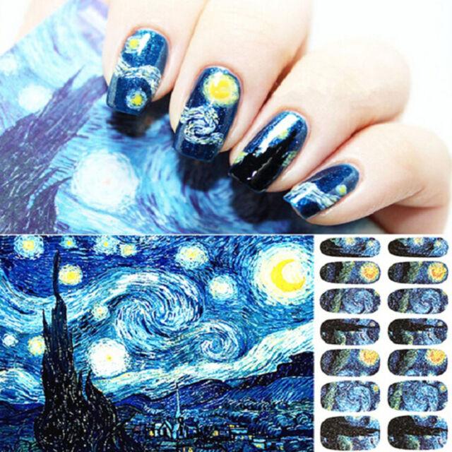 14pcs/Sheet sky Nail Full Wrap Decal Nail Art Decoration Stickers Tips NIUS
