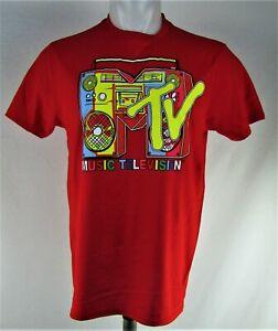 MTV-Men-039-s-Red-T-Shirt