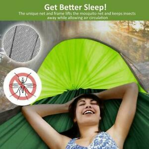 Camping-Hammock-With-Mosquito-Net-Cover-Double-Portable-Rainfly-And-Tent-Y4C7