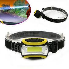 Wasserdichte COB Stirnlampen LED 3 Modi Scheinwerfer AAA Taschenlampe Kopflampe