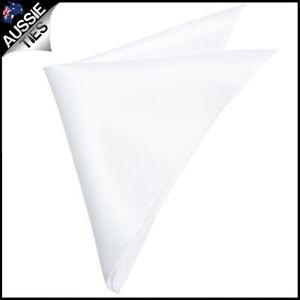Mens-White-Pocket-Square-Handkerchief-hanky