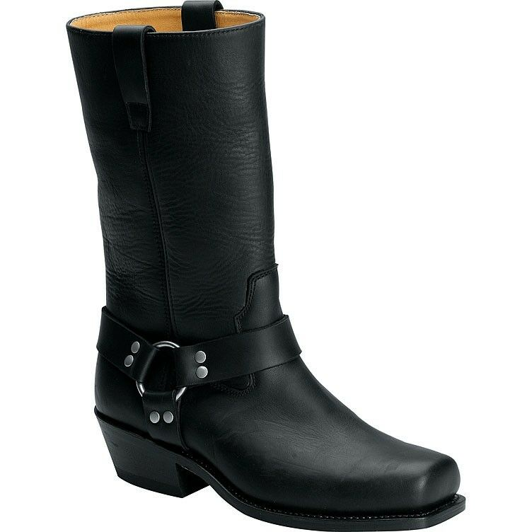 Womens Womens Womens Spirit Leather Motorcycle Boots  Harness Square toe 08e4f2