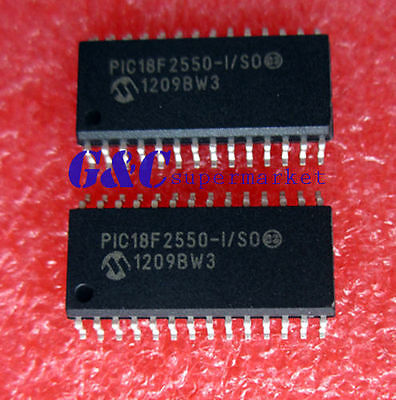 2PCS IC PIC18F2550-I/SO PIC18F2550 SOP28 Microcontroller MCU NEW DATE CODE12+