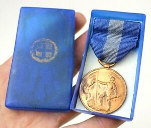 WW2-BOXED-GREECE-GREEK-ARMY-NATIONAL-RESISTANCE-MEDAL-1941-45-AUC