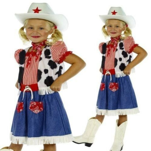 Hat Child Cowgirl Sweetie Costume Wild West Fancy Dress Outfit