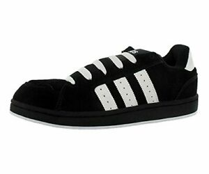 Adidas-Mens-G10010-Suede-Low-Top-Lace-Up-Fashion-Black-White-Size-12-0-wKb4