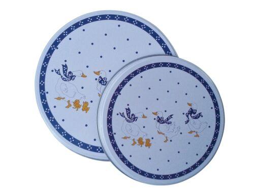 Herdabdeckplatten 4 il Set de cuisine Cuisinière Couvercle Motif Oies bleu