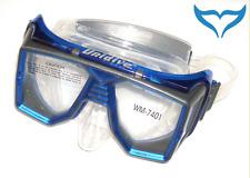 Tauchmaske 4-Fenster Tauchermaske transparent-blau Unidive Poseidon komfortabel