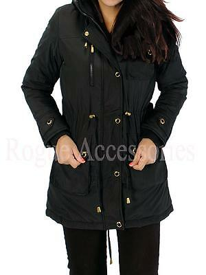 Sherpa Deluxe Lined Fur Hooded Fishtail Parka Jacket Coat Mac Plus Size  Womens