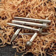 20Pcs Diamond Coated Rotary Points Burrs Drill Rotary Bit 6mm Shank Die Grinder