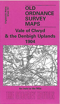 OLD ORDNANCE SURVEY MAP Vale of Clwyd & The Denbigh Uplands
