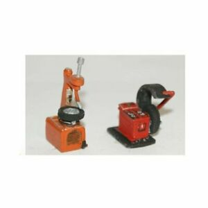 Garage-Workshop-Tyre-Changer-amp-Balancing-Machine-OO-gauge-Langley-LANGF116b