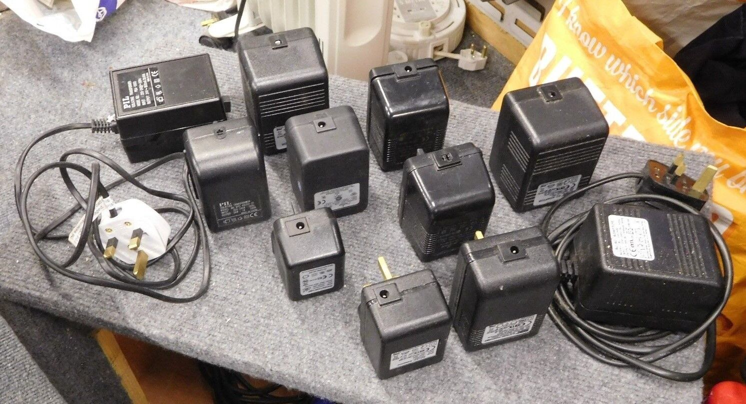11 x DC Power Supplies 12V 24V DC Various Power Supply Toys Games Electrical PA