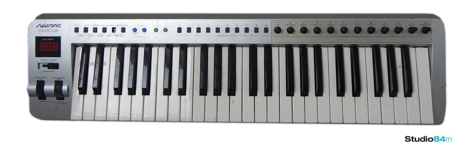 Swissonic ck490 USB Pro Audio keyboard USB MIDI Keyboard Controller