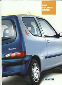 fiat seicento brush special edition sales brochure 2001. Black Bedroom Furniture Sets. Home Design Ideas