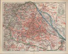 Landkarte city map 1897: Stadtplan: ÜBERSICHTSPLAN VON WIEN.