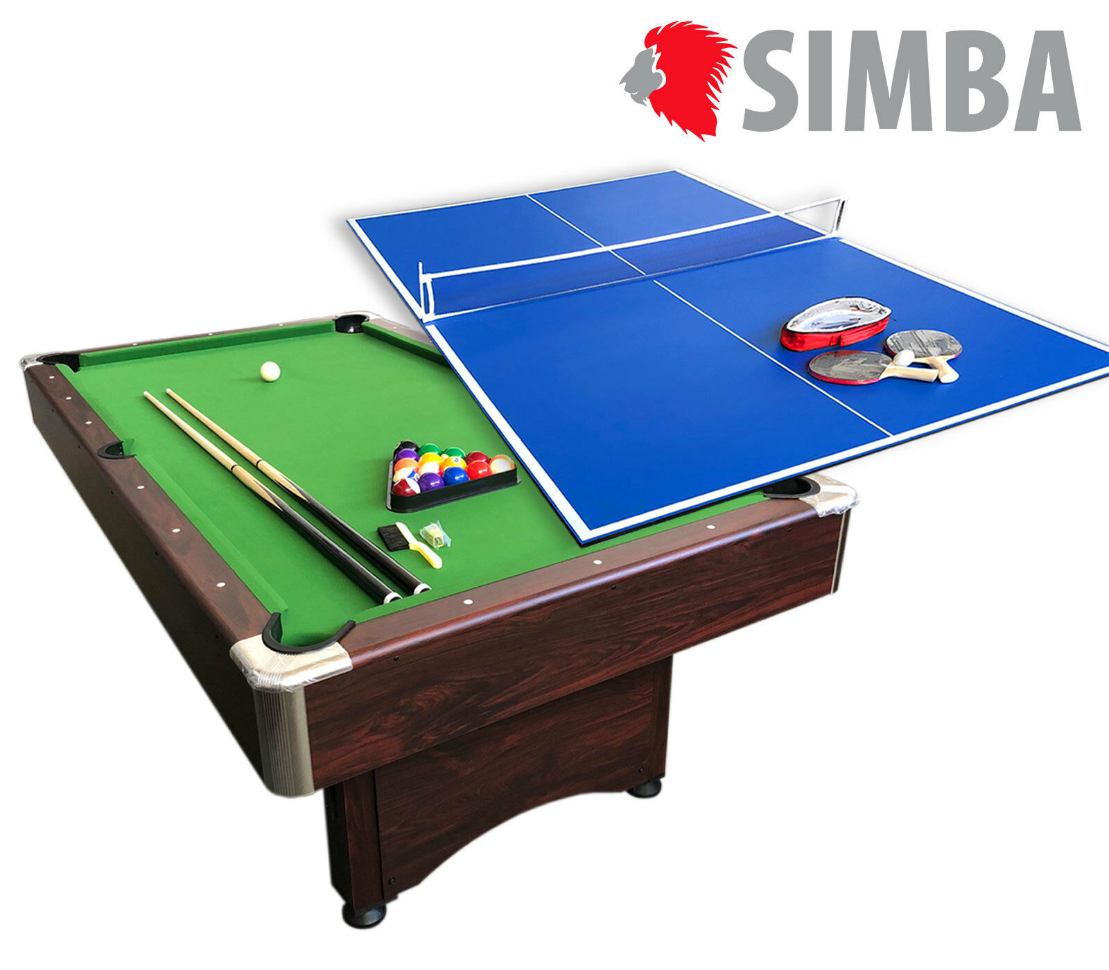 BILLARD AMERICAIN 7FT Snooker table de billard Sirio + PLAN TENNIS DE TABLE